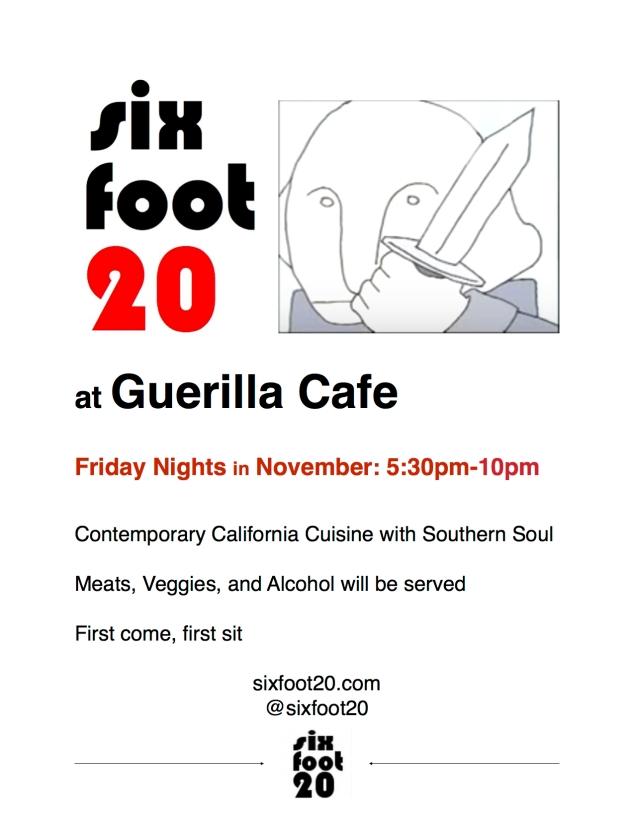 Guerilla Cafe Flyer